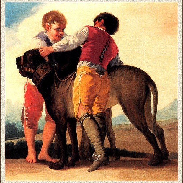 history mastiffs and two boys