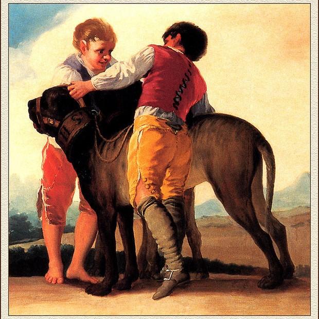 history mastiffs and two boys